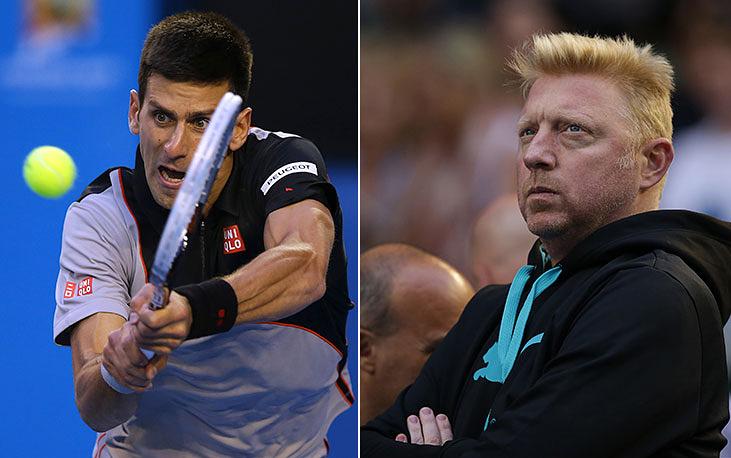 Новака Джоковича тренирует Борис Беккер, шестикратный чемпион турниров Большого шлема в одиночном разряде, самый юным победитель Уимблдона (17 лет), олимпийский чемпион 1992 года в парном разряде