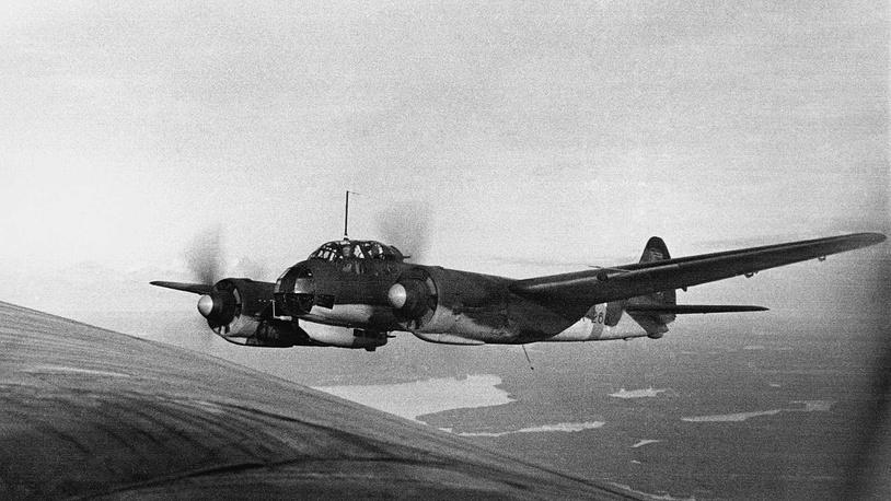 Финский бомбардировщик немецкого производства Юнкерс Ю-88 (Ju-88)