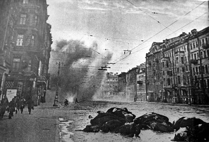 Артобстрел Невского проспекта в дни войны, Ленинград, 1941