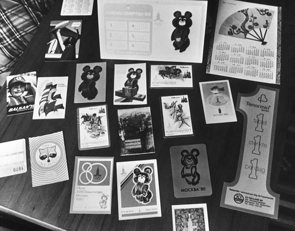 Календари, посвященные Олимпиаде 1980 года в Москве