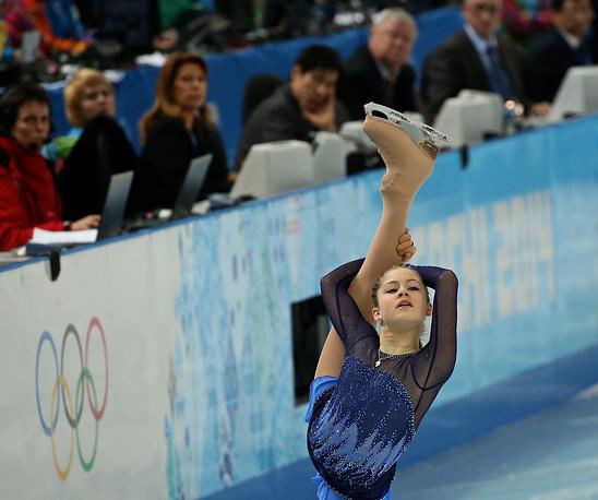 Короткая программа женского одиночного катания в командных соревнованиях по фигурному катанию в Сочи 2014