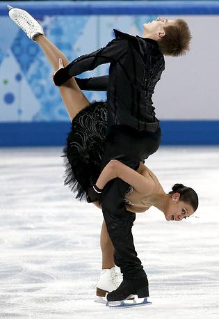 Российская пара Елена Ильиных и  Никита Кацалапов