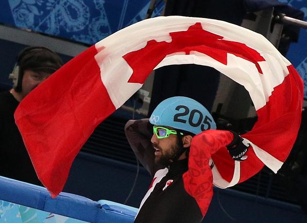 """Канадский спортсмен Шарль Амлен, завоевавший """"золото"""""""