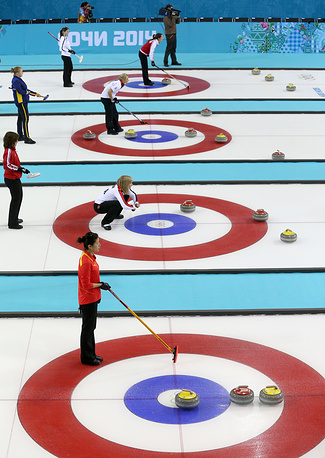 Матчи кругового турнира по керлингу