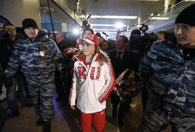 Фигуристка Юлия Липницкая прилетела в Москву