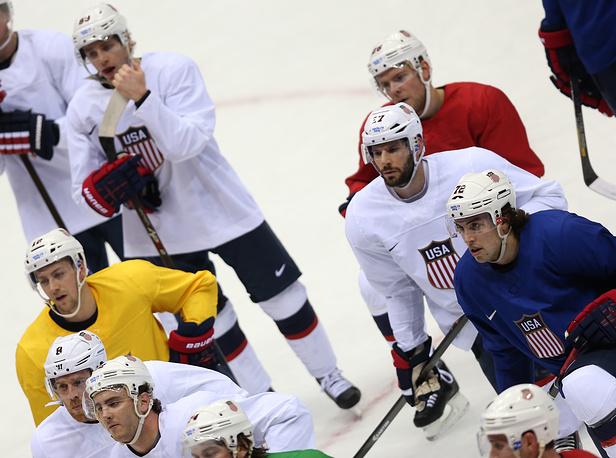 Игроки сборной США по хоккею