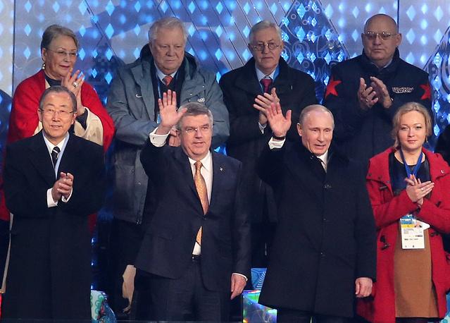 На торжественной церемонии открытия в Сочи, стартовавшей в 20:14 мск, присутствовало более 40 глав государств