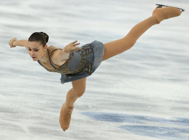 Российская фигуристка Аделина Сотникова завоевала золото Олимпиады в Сочи в одиночном катании
