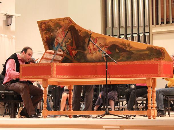 "Репетиция на Фестивале ""Bach-Fest-2014"". За клавесином Тарас Багинец"