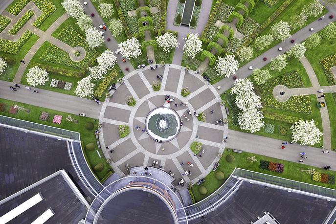 Вид королевского парка сверху