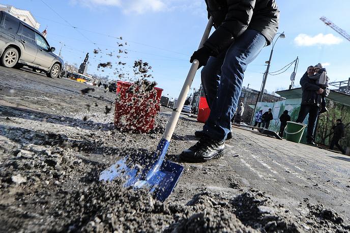 Акция по убоке грязи в Екатеринбурге
