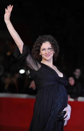 Ксения Раппопорт на красной ковровой дорожке 5-го ежегодного Римского кинофестиваля.