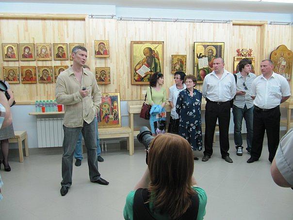"""На открытии музея """"Невьянская икона"""". 14 мая 2010 года"""