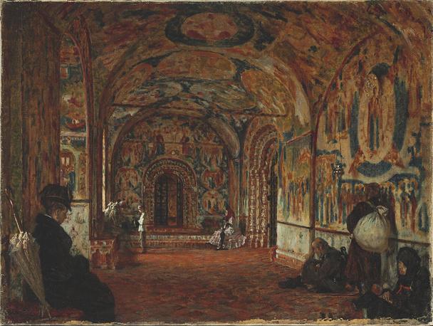 Портик церкви XVII века в Ярославле. Верещагин