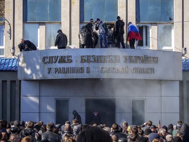 Луганск, 6 апреля 2014 года