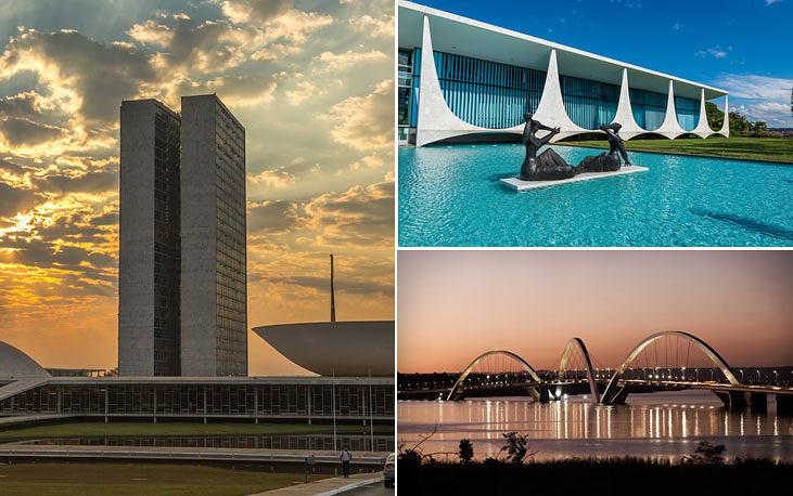Бразильская столица город Бразилиа был основан в 1960 году, население - 2,6 млн человек. Перенос столицы из Рио-де-Жанейро в Бразилиа состоялся 21 апреля 1960 года. Большинство административных и общественных зданий в городе построено по проекту известного бразильского архитектора Оскара Нимейера. В 1987 году город включен в список всемирного наследия ЮНЕСКО