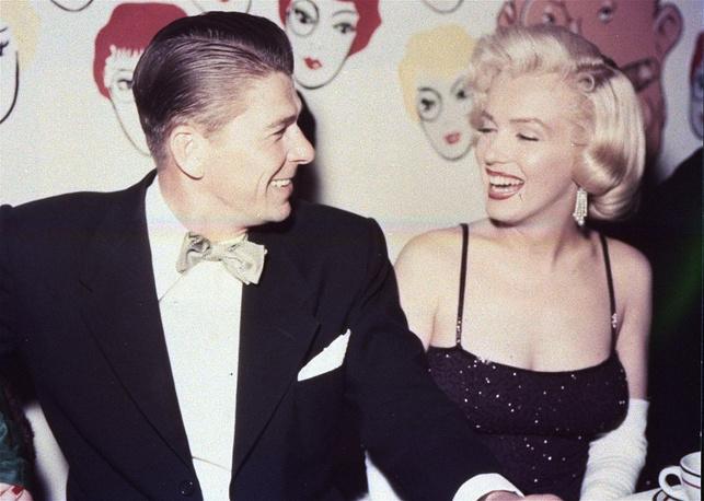 Рональд Рейган и Мэрлин Монро, 1954 год