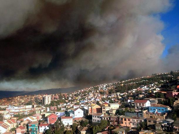 Распространению лесного пожара способствовал сильный ветер