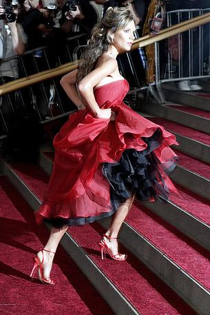Виктория Бекхэм снялась в ряде реалити-шоу, включая Being Victoria Beckham и The Real Beckhams. На фото: Виктория Бекхэм на Costume Institute Gala в Метрополитен-музее, 2006 год