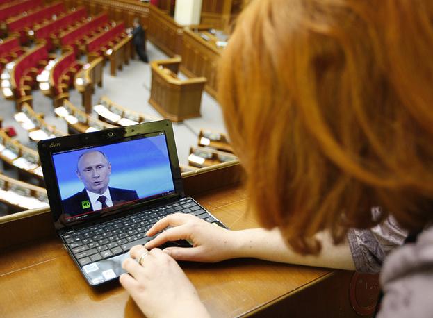 Прямую линию с российским лидером смотрели и в Верховной раде