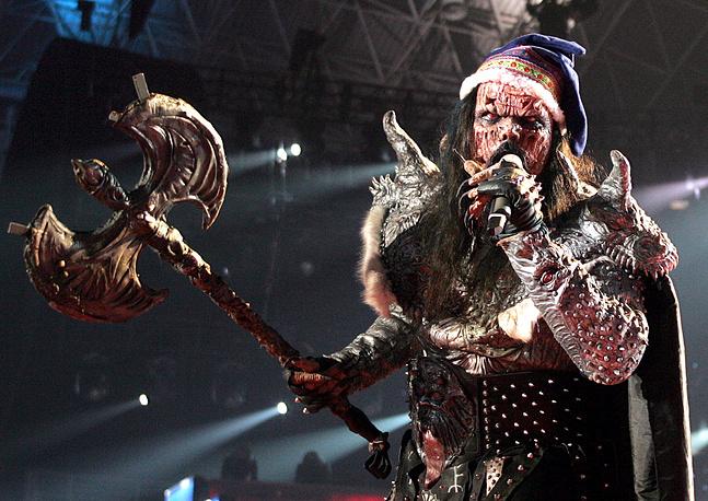 """Вокалист группы Lordi на конкурсе """"Евровидение"""", 2006 год"""