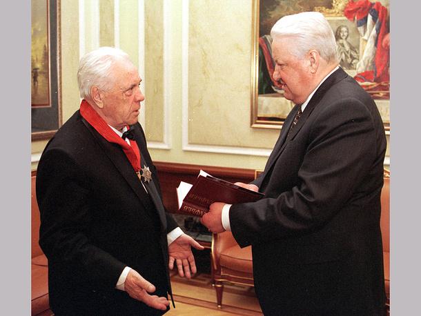 Встреча Виктора Астафьева с Борисом Ельциным в Кремле