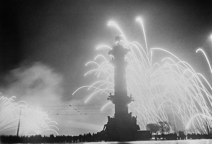 Салют Победы в Ленинграде, 9 мая 1945 года