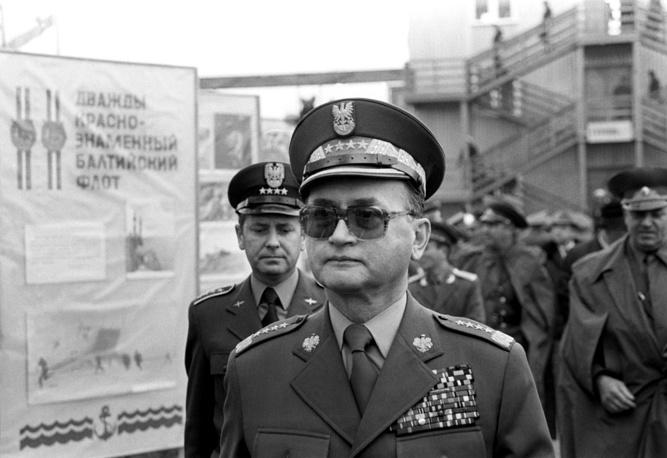 """Войцех Ярузельский во время учений """"Запад-81"""""""