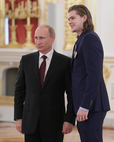 Владимир Путин и Виктор Тихонов