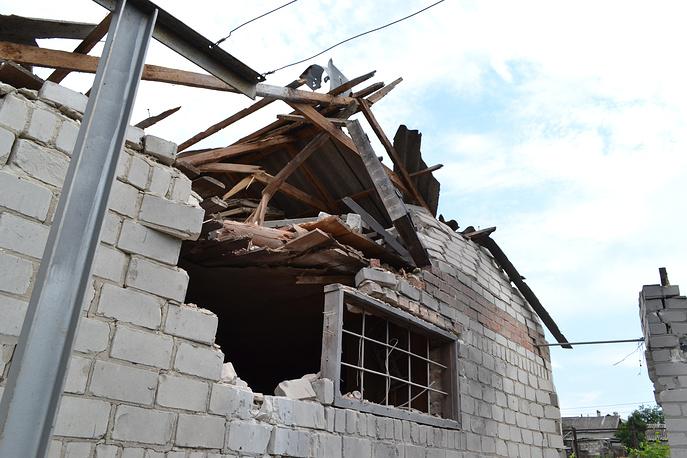 Разрушенный дом на улице Горловская