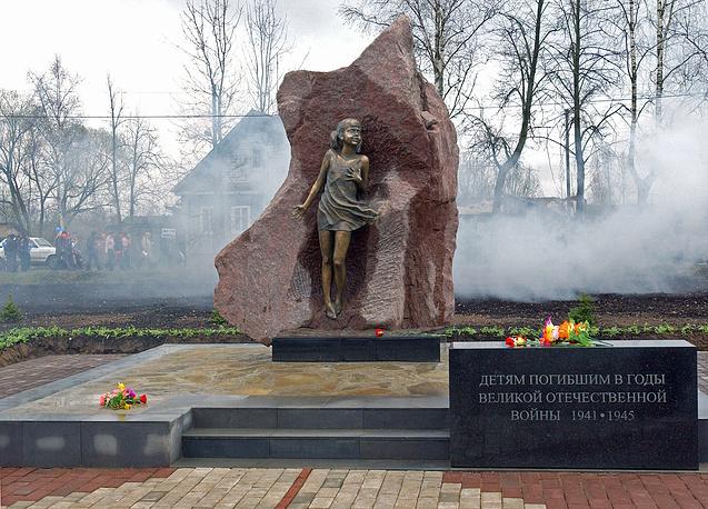 Мемориал Дети войны в деревне Лычково в память о погибших в годы ВОВ ленинградских детях