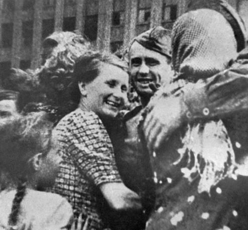 Встреча освободителей в Минске, 19 июля 1944 года