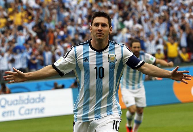 Лионель Месси забил свой третий гол на турнире уже на 3-й минуте матча