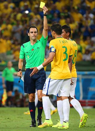 Тьяго Силва пропустит полуфинал из-за перебора желтых карточек