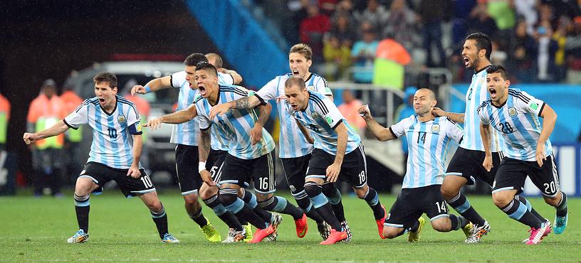 Ликование аргентинцев