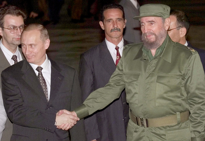 Президент России Владимир Путин и Фидель Кастро в Гаване, 2000 год