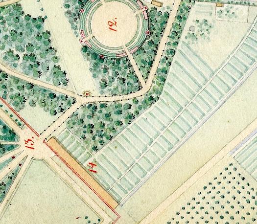 Огород у Сильвийских ворот в Дворцовом парке Гатчины. 1816 год