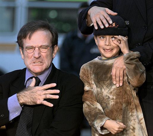 Робин Уильямс с сыном Коди, Лос-Анджелес, 1998 год