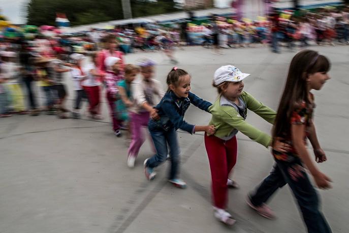 Кроме самого шествия были организованы конкурсы для детей и их родителей