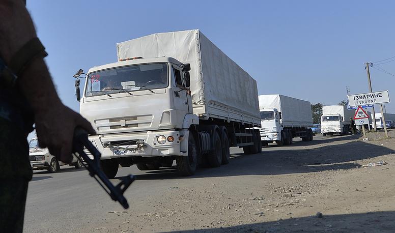 Автоколонна МЧС РФ с гуманитарной помощью выдвинулась утром 12 августа, в ее составе более 260 грузовых автомобилей
