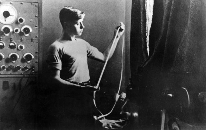 В аппаратной (телетайпной) ТАСС, 1933 год