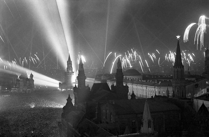 Салют Победы в Москве, 1945