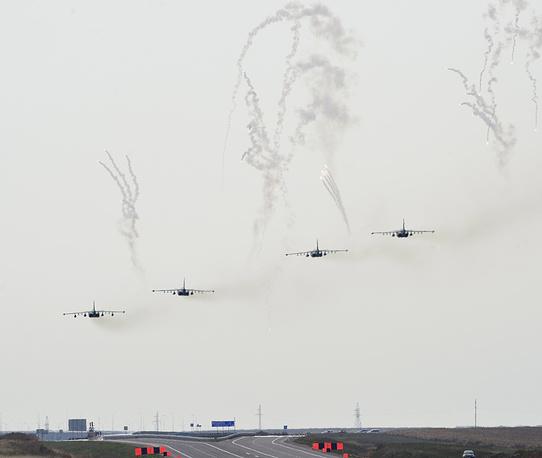 Звено штурмовиков Су-25