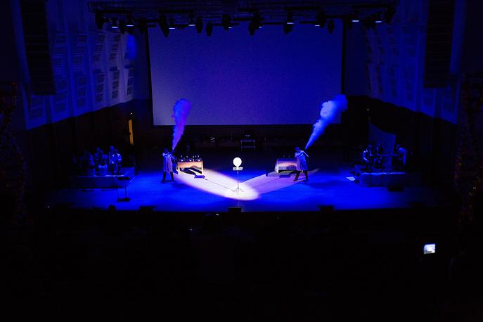 Открытие фестиваля науки состоялось в государственном концертном зале им. Каца 3 октября