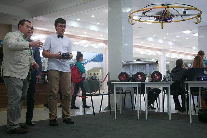 Демонстрация беспилотного летательного аппарата в ГКЗ им. Каца