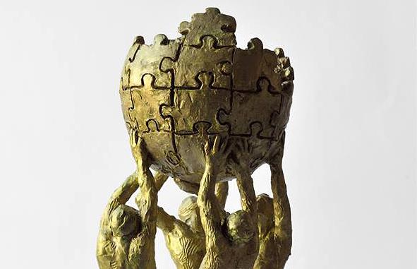 Макет памятника Википедии, фрагмент