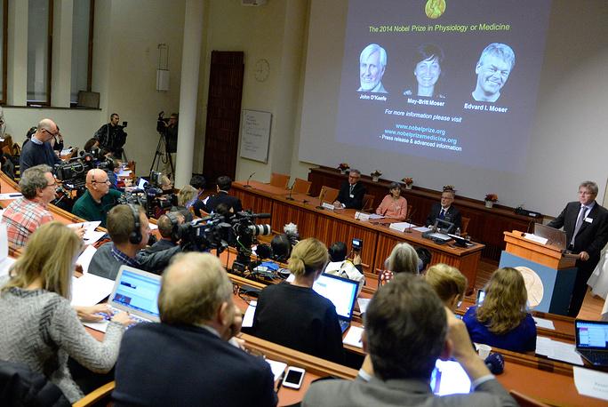 6 октября стали известны обладатели Нобелевской премии по физиологии и медицине. Ими стали Джон О`Киф и норвежская супружеская пара Май-Бритт и Эдвард Мозер