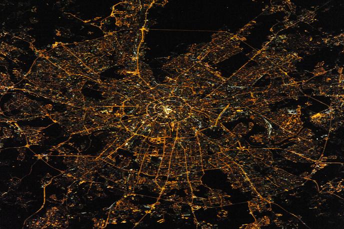Ночная Москва - вид из космоса, 2014 год