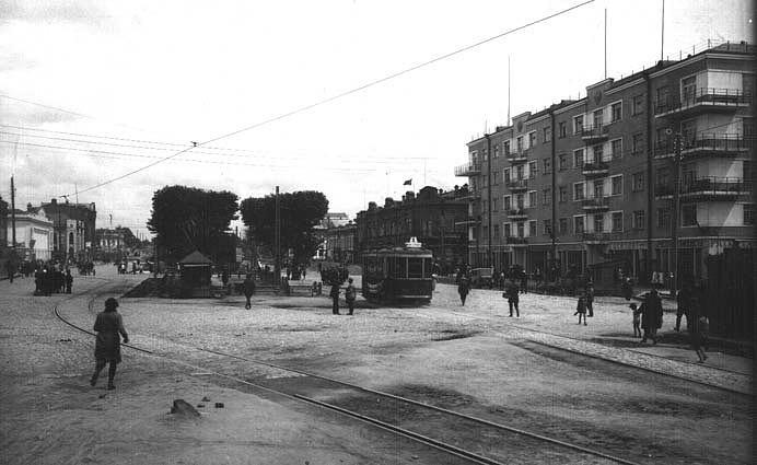 Трамвайная линия на Верх-Исетский завод. Проспект Ленина. 1930-е годы