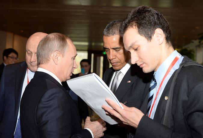 10-11 ноября 2014 г. лидеры несколько раз пообщались в кулуарах саммита АТЭС в Пекине. В перерывах между заседаниями Путин и Обама  обсудили вопросы двусторонних отношений, а также ситуацию вокруг Украины, Сирии и Ирана